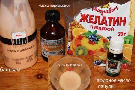 Maska-dlja-volos-s-zhelatinom-recepty